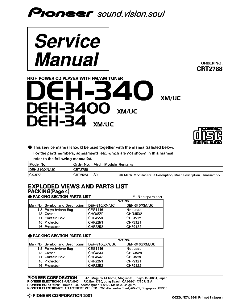 wiring diagram pioneer deh 34 pioneer deh 3400 manual