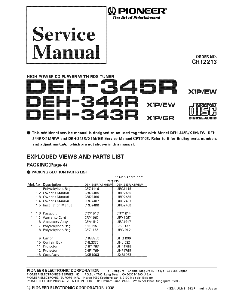 Wiring Diagram For A Pioneer Deh X65bt : Wiring diagram deh bt engine diagrams elsavadorla