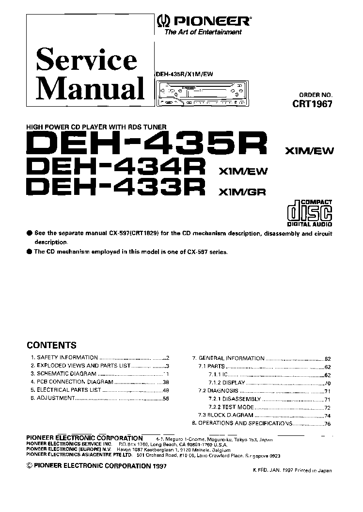 Wiring Diagram For Pioneer Deh X5500hd : Pioneer deh p mp harness elsavadorla