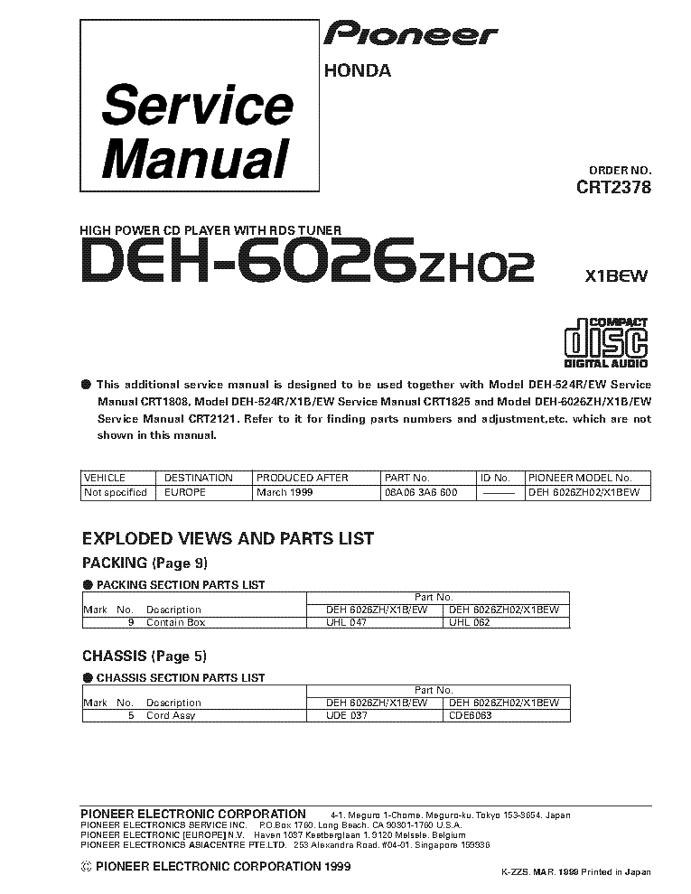 pioneer_deh 6026zh02_crt2378_supplement.pdf_1 pioneer deh 1700 deh 7 crt3381 supplement service manual download pioneer deh p6200bt wiring diagram at suagrazia.org