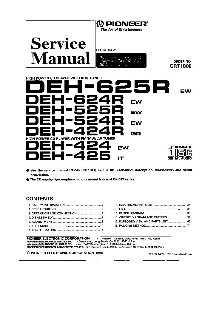 DIAGRAM] Wiring Diagram Pioneer Deh P3500 FULL Version HD Quality Deh P3500  - WIRINGAUTOPDF.PLURIFIT.FR Wiring And Fuse Database