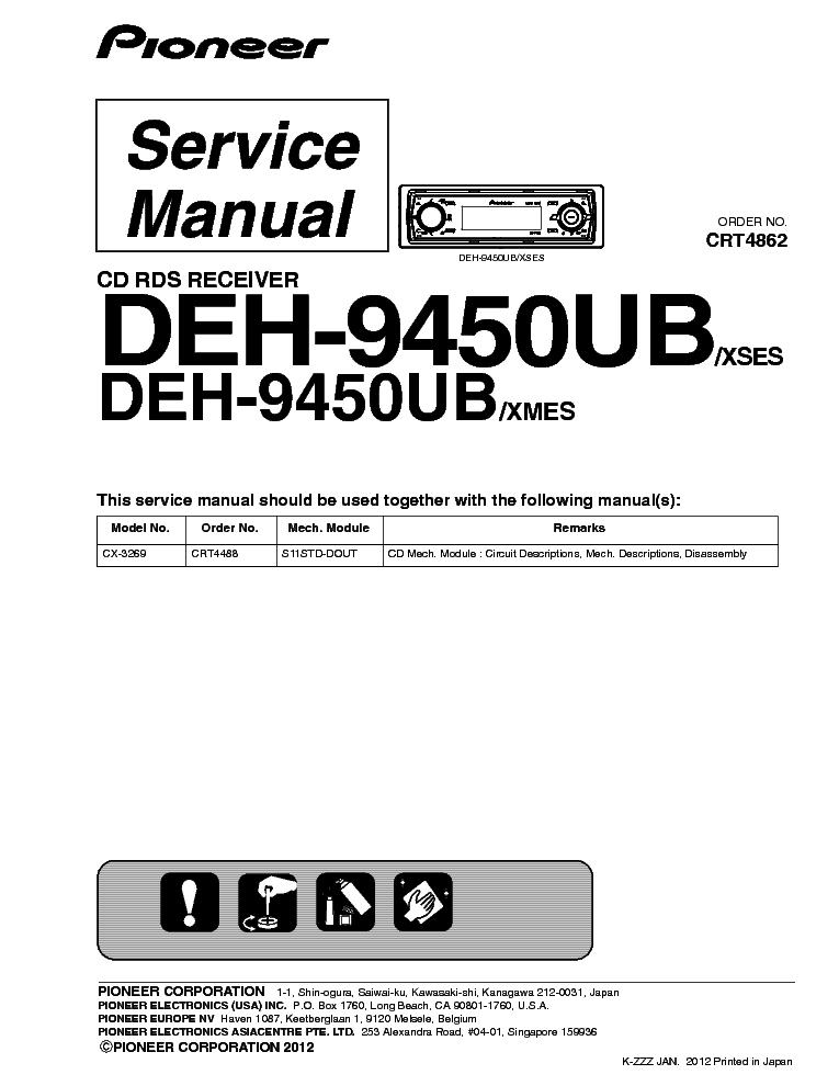 инструкция Pioneer Deh 9450ub - фото 5