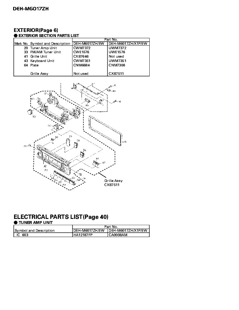 PIONEER DEH-M6017ZH CRT2701 SUPPLEMENT service manual (2nd page)