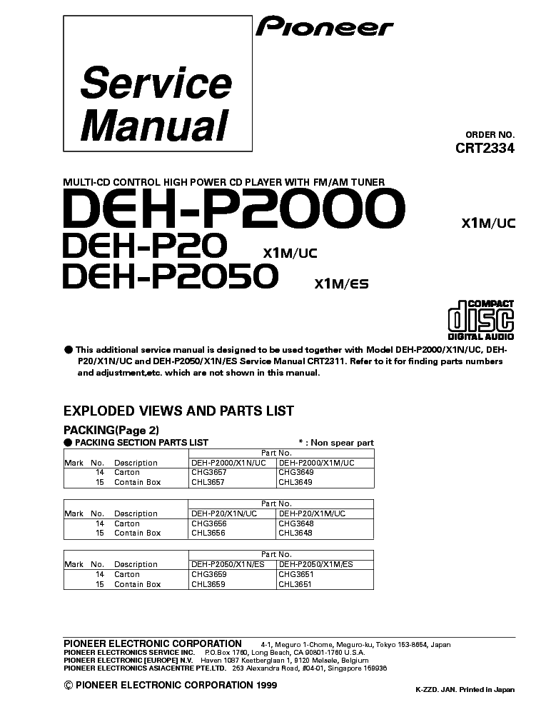 pioneer deh 2700 wiring diagram wiring diagram and hernes pioneer deh 2700 am fm cd player radio car stereo w manual