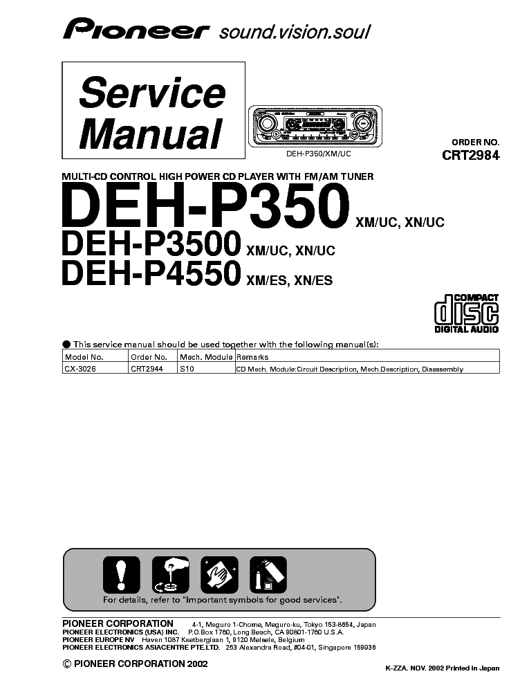 pioneer_deh p3500.pdf_1 wiring diagram for pioneer deh p8400bh the wiring diagram pioneer deh-p6500 wiring harness at aneh.co