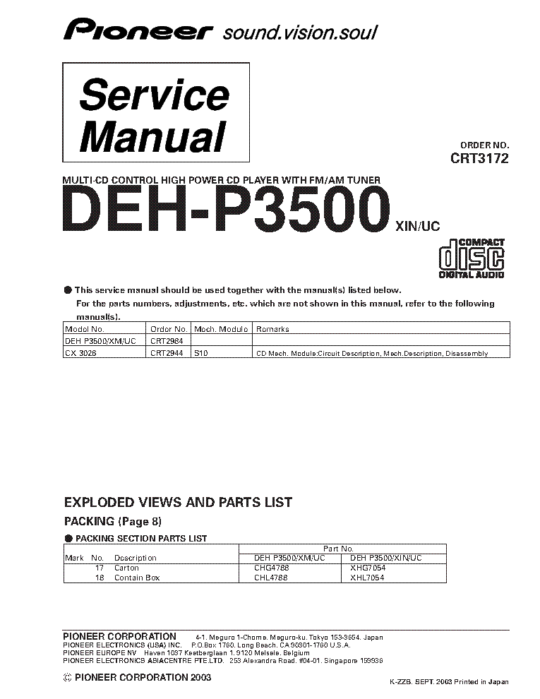 pioneer_deh p3500_crt3172_supplement.pdf_1 pioneer deh 14 wiring diagram pioneer free wiring diagrams pioneer keh-3500 wiring diagram at mifinder.co