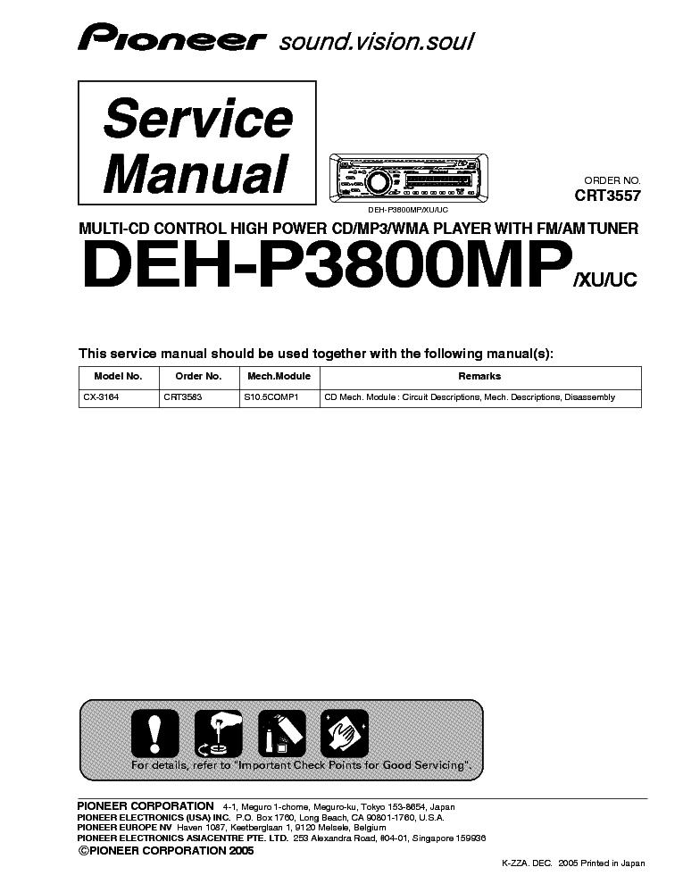 pioneer deh 6400 deh 6450 deh 5450 sm service manual download rh elektrotanya com pioneer deh 2800mp manual pioneer deh 2800mp manual
