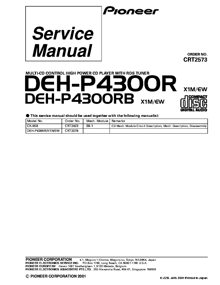 pioneer_deh p4300r_deh p4300rb_crt2573_supplement.pdf_1 pioneer fh p404 service manual download, schematics, eeprom pioneer deh-p43 wiring diagram at creativeand.co