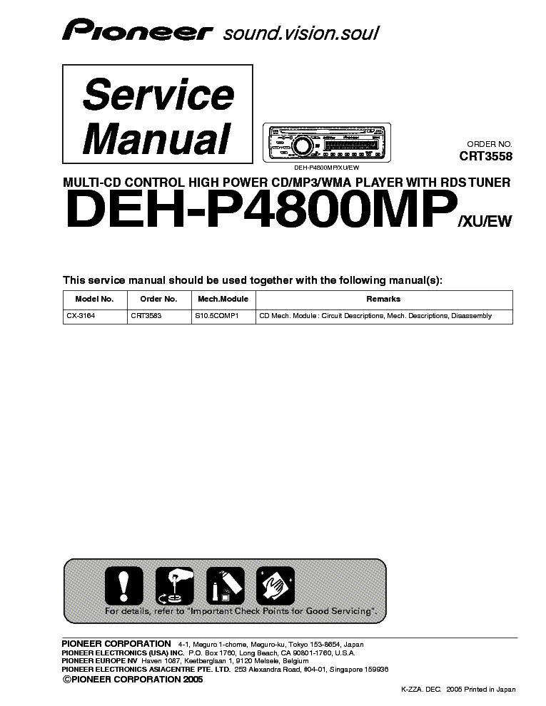 pioneer deh p4800mp crt3558 sm service manual download schematics rh elektrotanya com