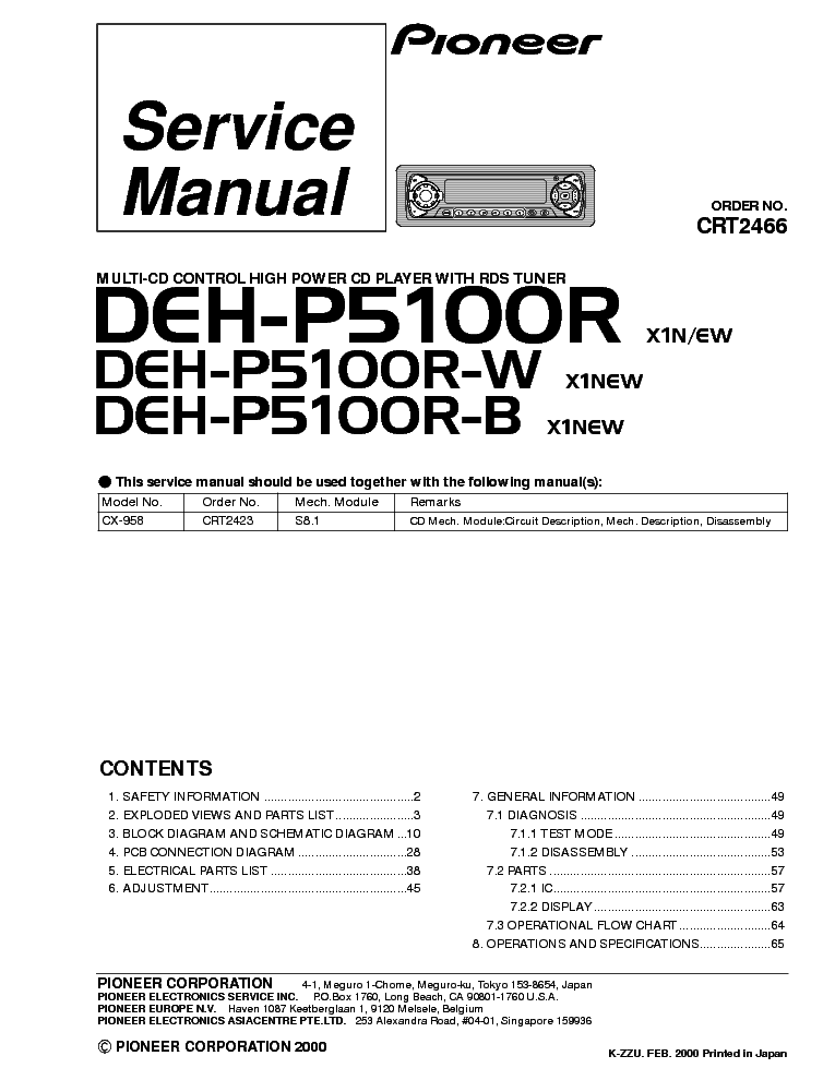 pioneer_deh p5100r.pdf_1 pioneer deh p5100r service manual download, schematics, eeprom GM Wiring Diagrams For Dummies at webbmarketing.co