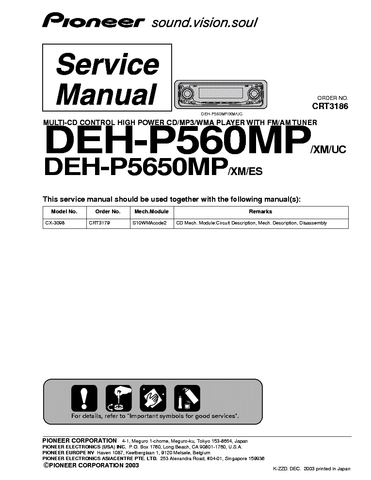 pioneer_deh p560mp_p5650mp_sm.pdf_1 pioneer sph da01 appradio sm service manual download, schematics pioneer sph da01 wiring diagram at eliteediting.co