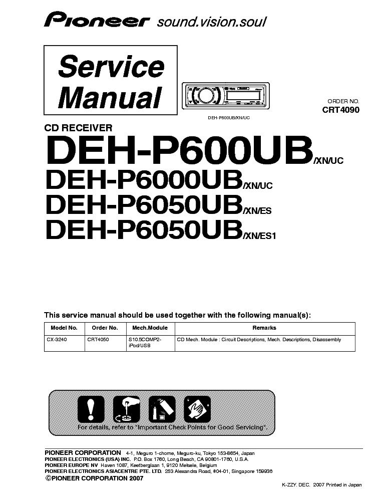 Pioneer Deh P6050 Wiring Diagram