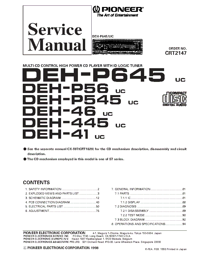 pioneer_deh p645_deh p56_deh p545_deh 46_deh 445_deh 41.pdf_1 pioneer avh p6300bt p6350bt service manual download, schematics pioneer deh 445 wiring diagram at panicattacktreatment.co