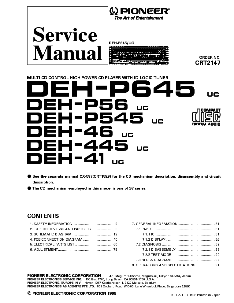 Pioneer deh wiring diagram dodge dakota radio