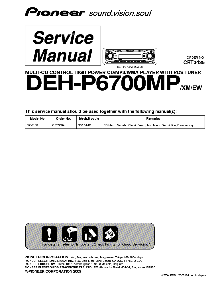 pioneer_deh p6700mp.pdf_1 pioneer fh p80bt fh p800bt fh 8000bt fh p6050ub service manual pioneer fh-p800bt wiring diagram at gsmportal.co