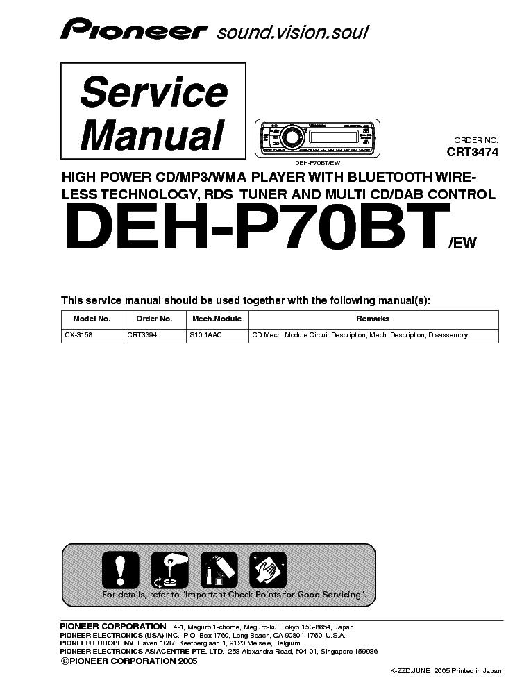 Deh 7100bt Manual on