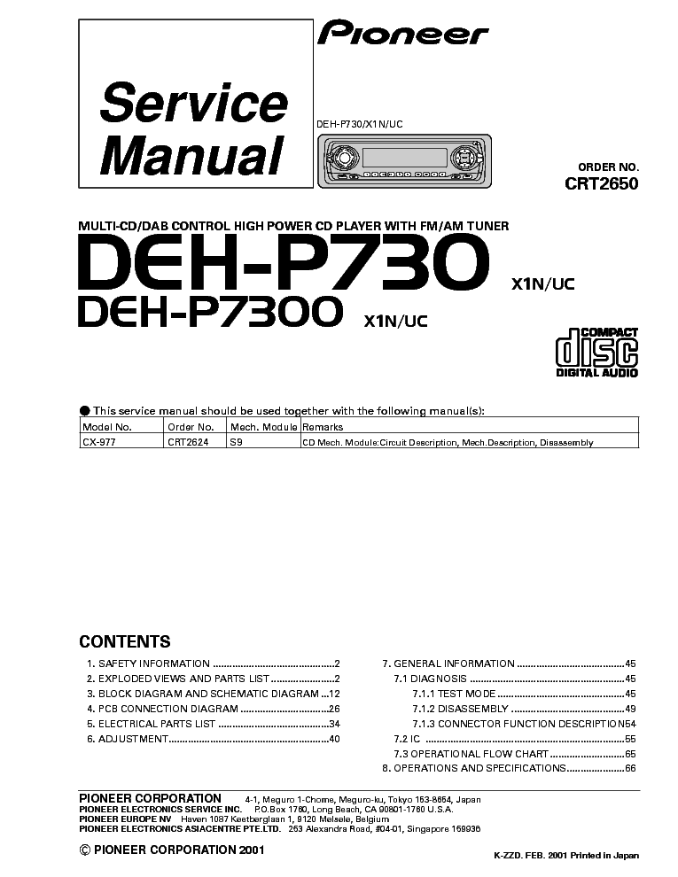 pioneer_deh p730_p7300.pdf_1 pioneer deh p730 p7300 service manual download, schematics, eeprom pioneer deh p7200 wiring diagram at webbmarketing.co
