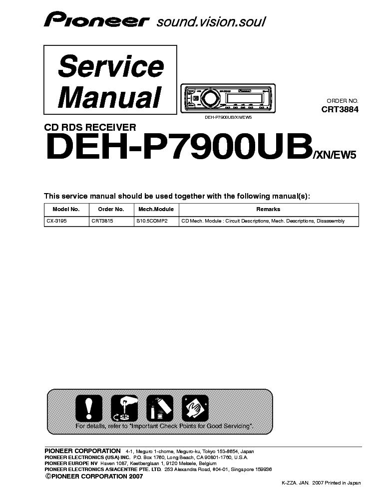 Pioneer avh p5900dvd инструкция