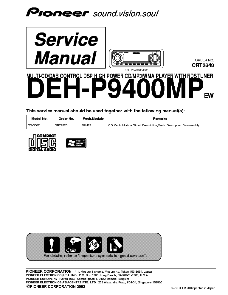 pioneer_deh p9400mp.pdf_1 pioneer deh 2050mpg wiring diagram diagram wiring diagrams for pioneer deh 2000mp wiring diagram at bayanpartner.co