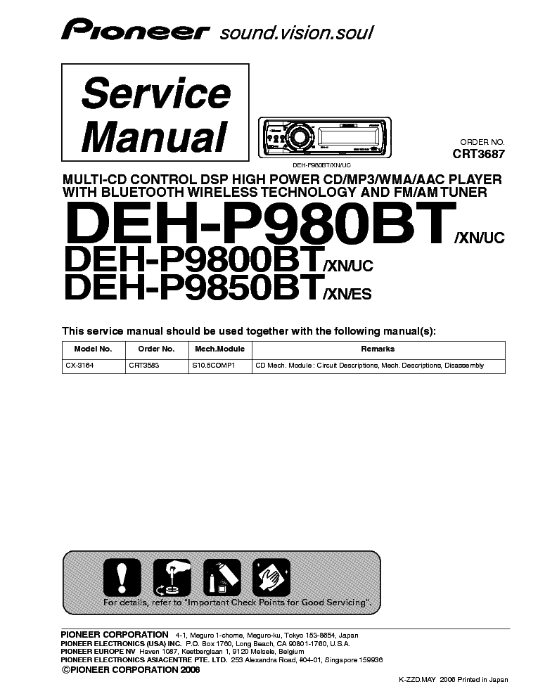 pioneer_deh p980bt_p9800bt_p9850bt.pdf_1 pioneer deh 1950 crt3821 car audio service manual download pioneer deh x1710ub wiring diagram at edmiracle.co