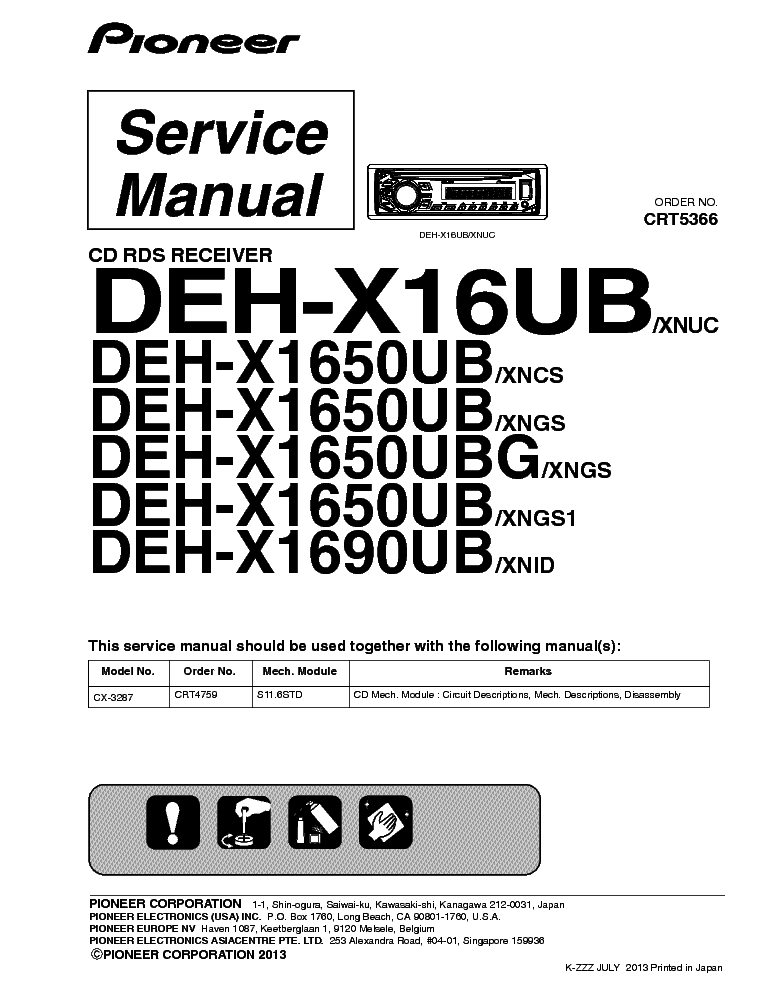 Wiring Diagram For A Pioneer Premier : Pioneer deh ub wiring harness diagram