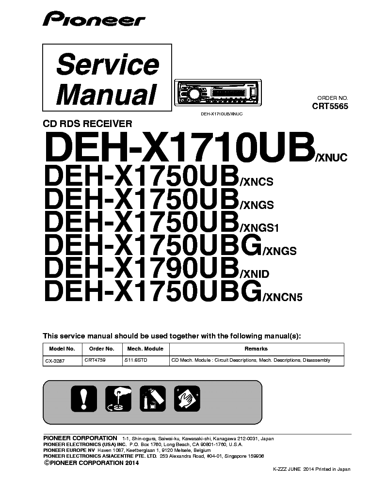 Pioneer Deh-X1710Ub Wiring Diagram from elektrotanya.com