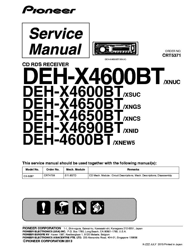 wiring diagram pioneer deh x3700ui wiring image pioneer dvh p4150ub dvh p4190ub crt4282 car dvd receiver service on wiring diagram pioneer deh x3700ui