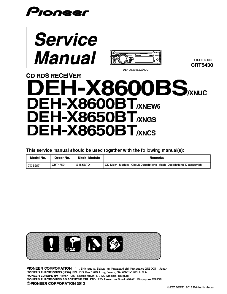 Wiring Diagram For Pioneer Deh X5500hd : Pioneer deh bs wiring diagram sony cdx