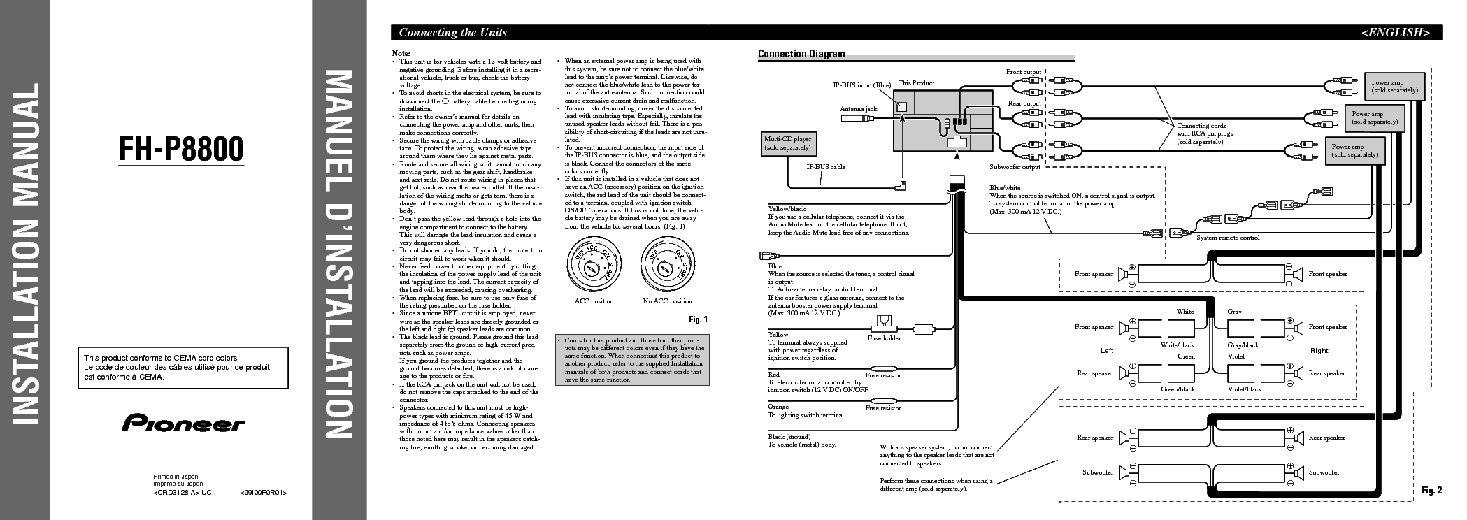 pioneer fh p800bt wiring diagram   32 wiring diagram