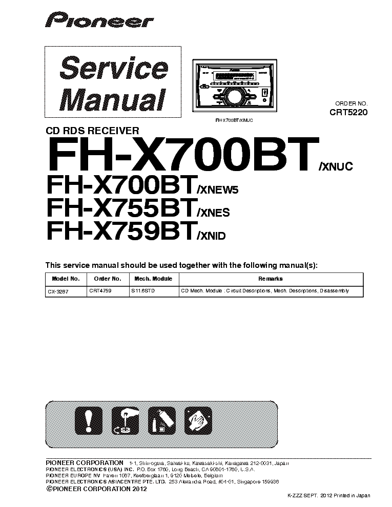 Wiring Harness Pioneer Fh X700bt Manual Guide