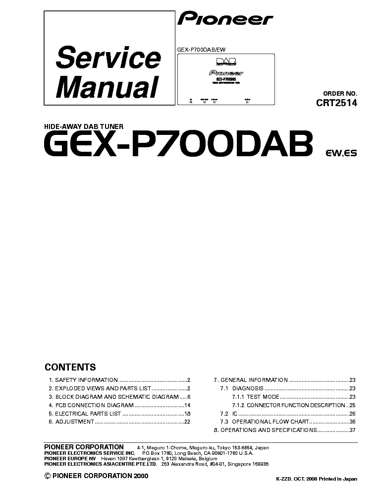 pioneer_gex p700dab crt2514 .pdf_1 pioneer gm 4000f wiring diagram gm dash wiring diagrams \u2022 indy500 co pioneer gm 4000f wiring diagram at gsmportal.co