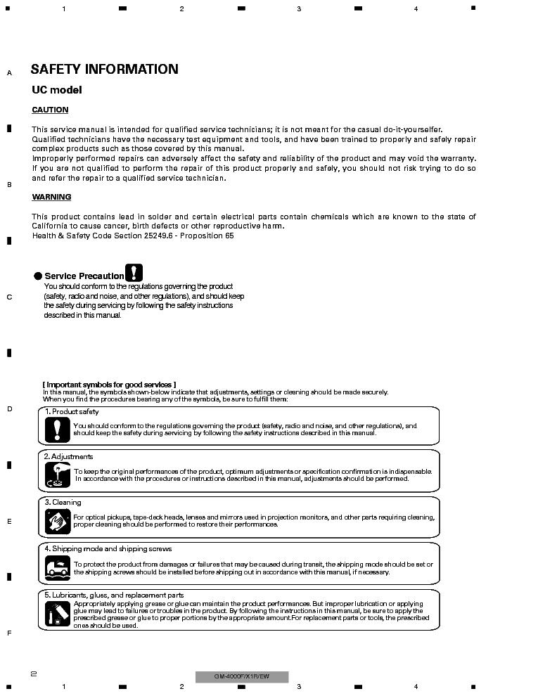 PIONEER GM-4000F SM Service Manual download, schematics