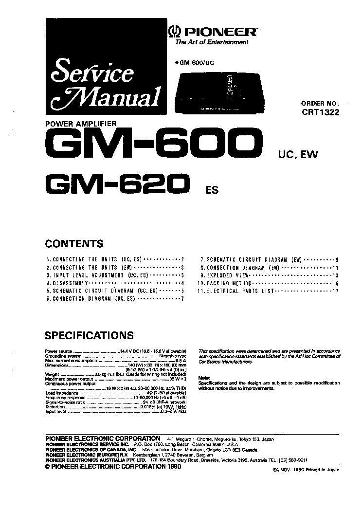 Pioneer gm 600 620 sm service manual download schematics eeprom pioneer gm 600 620 sm service manual 1st page asfbconference2016