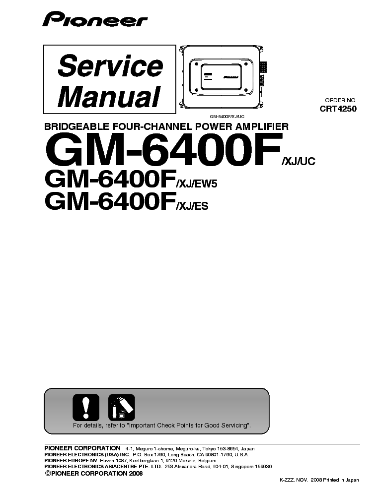 PIONEER GM-6400F SM service manual (1st page)