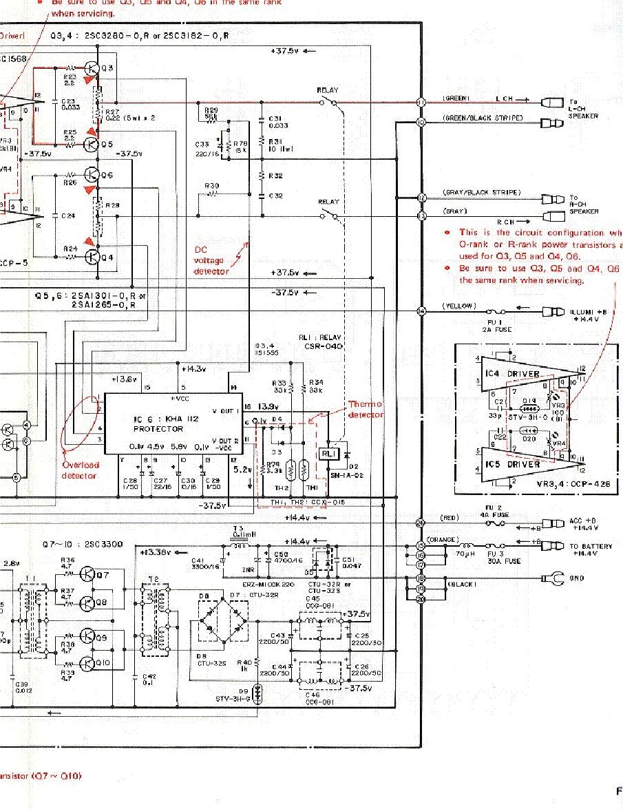 PIONEER GM-A200 SCH 2 Service Manual download, schematics ... on