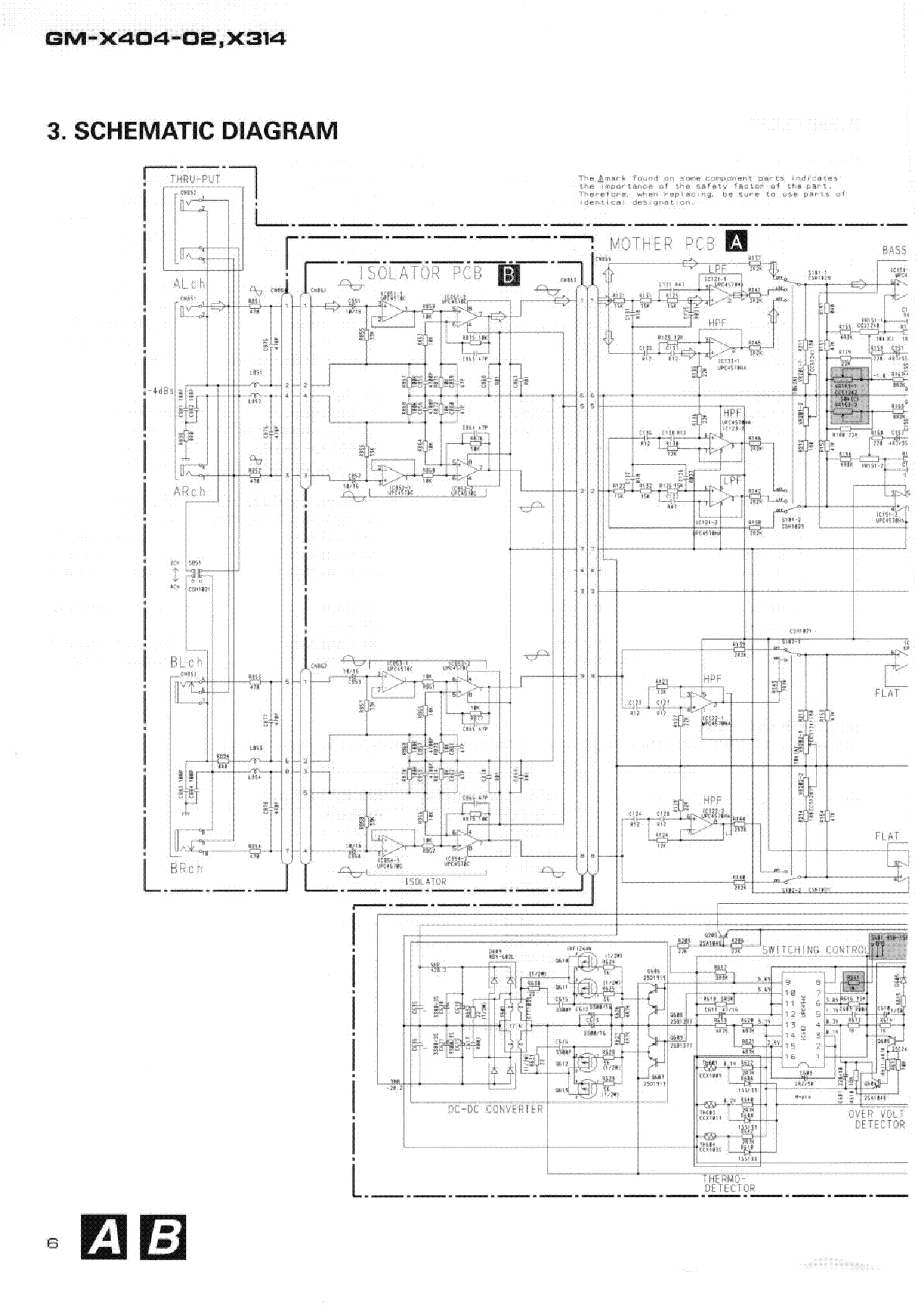 pioneer gm-x314 x404-02 sm service manual (2nd page)