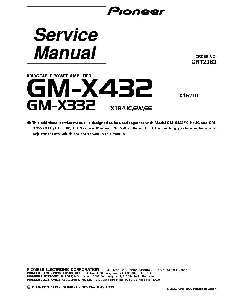 Gm x424 Manual