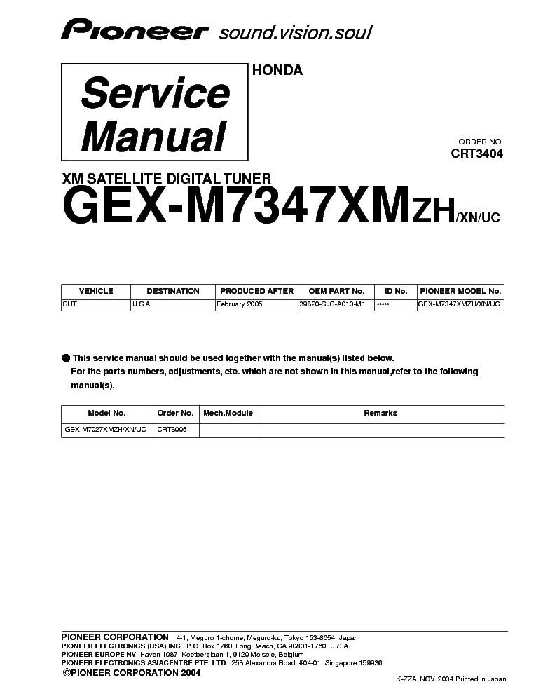 pioneer_honda_gex m7347xm crt3404 .pdf_1 pioneer deh p400 deh p4000 deh p4050 service manual download pioneer ke 1818 wiring diagram at virtualis.co