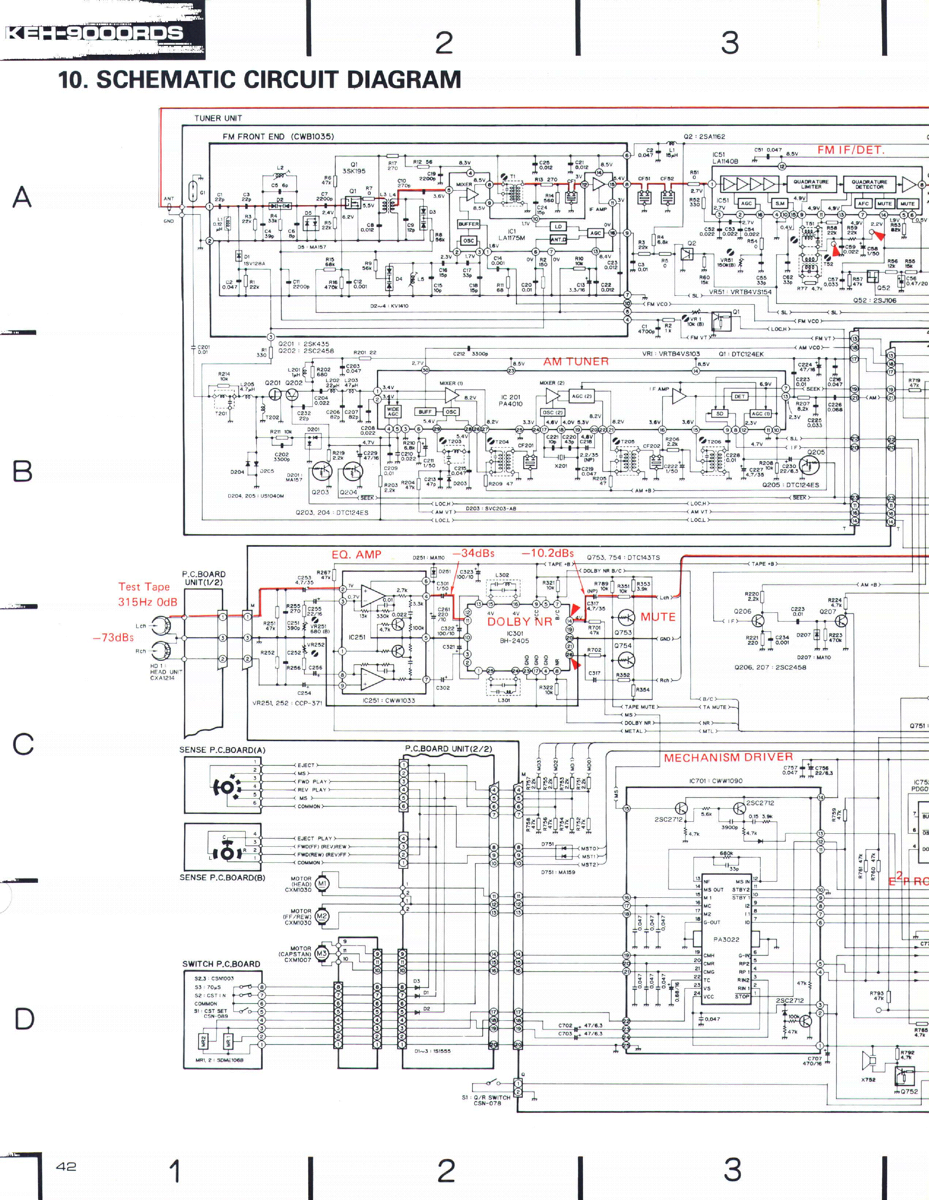 Pioneer Rds Radio Wiring Diagram : Pioneer keh rds sch service manual download