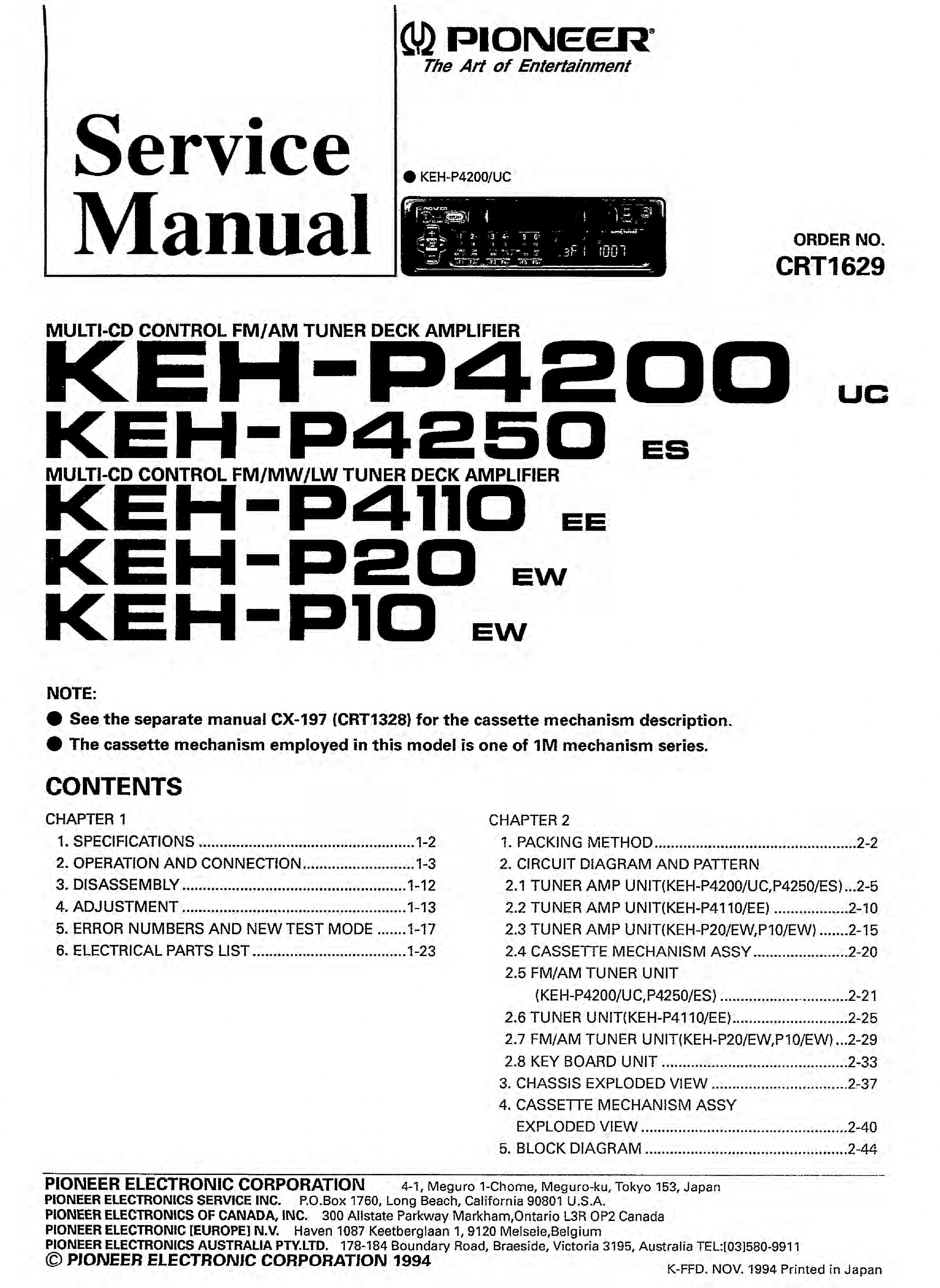 Pioneer Deh P2600 Wiring Diagram Page 3 And 23 2600 Alpine 11 15ub