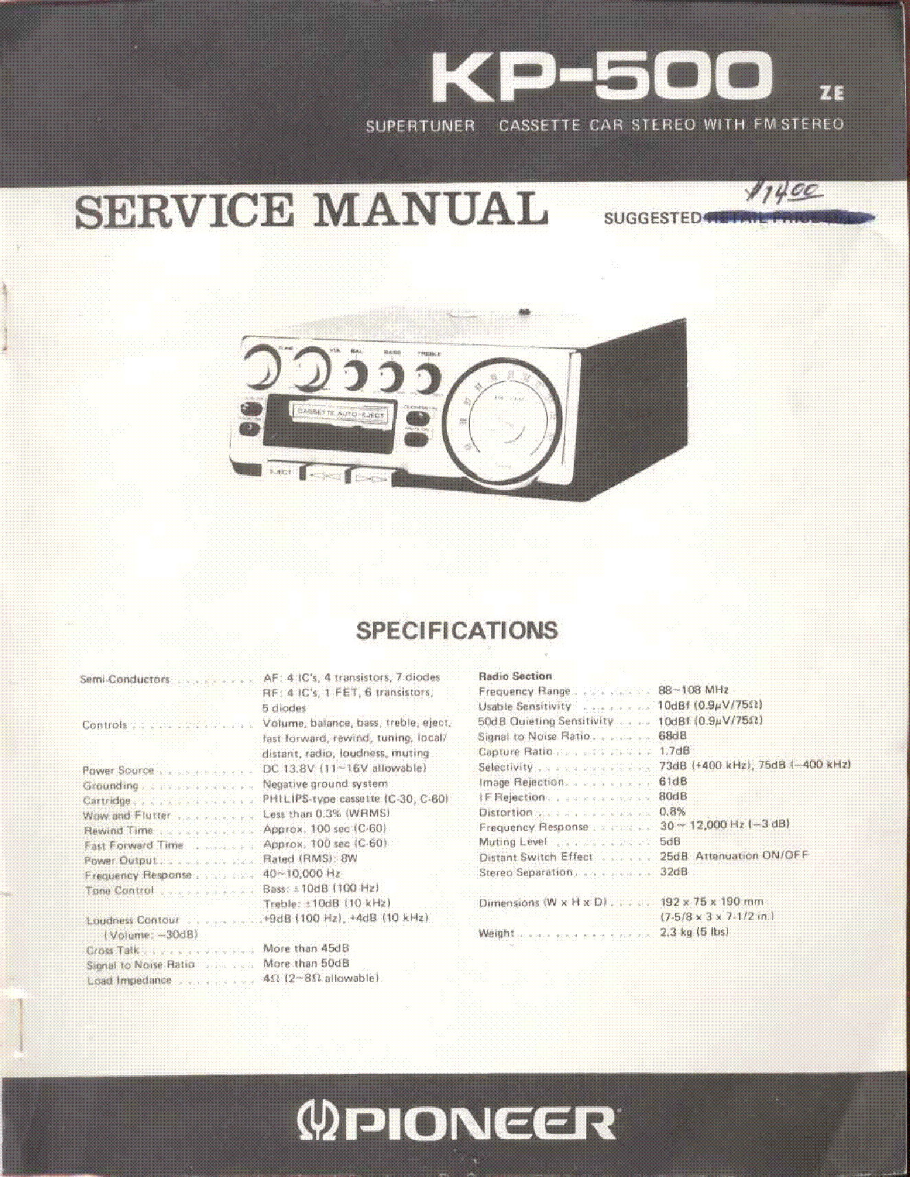 91700 Warn Wiring Diagram Pi Atilde Uml Ces De Carburateur 16 5ti Pioneer Kp Image 500 Service Manual Schematics Eeprom On