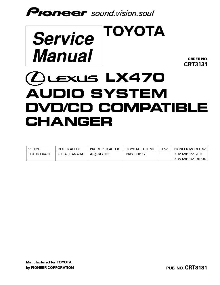 pioneer_lexus_lx470_xdv m8137 crt3131 .pdf_1 pioneer avh p6850dvd wiring diagram pioneer car stereo wiring  at mifinder.co