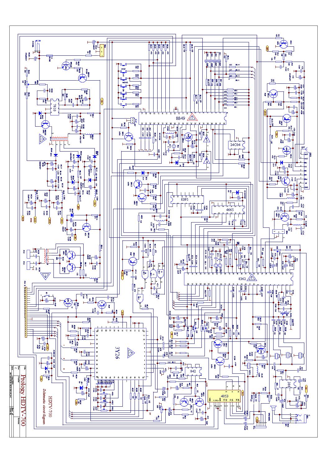 Prology hdtv-909s схема