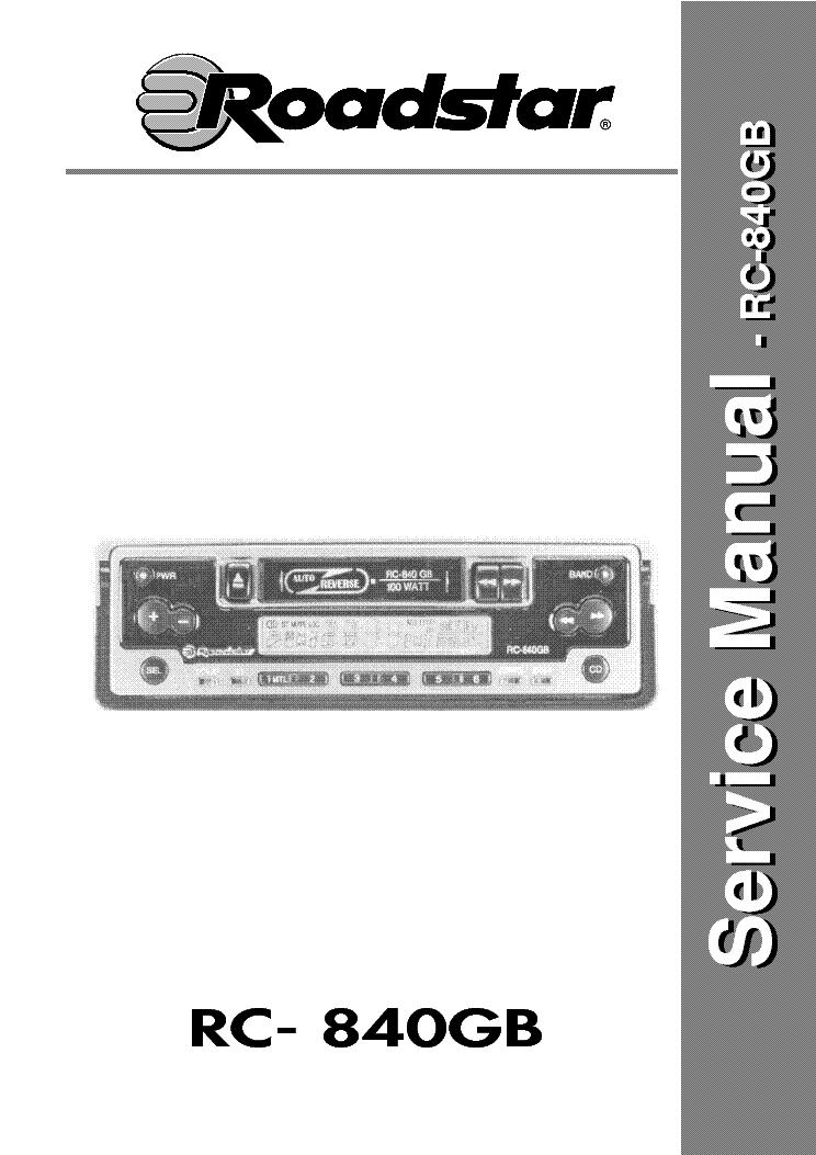 roadstar rc 840gb service manual download schematics eeprom rh elektrotanya com manual do amplificador roadstar 840 roadstar 840 manual download