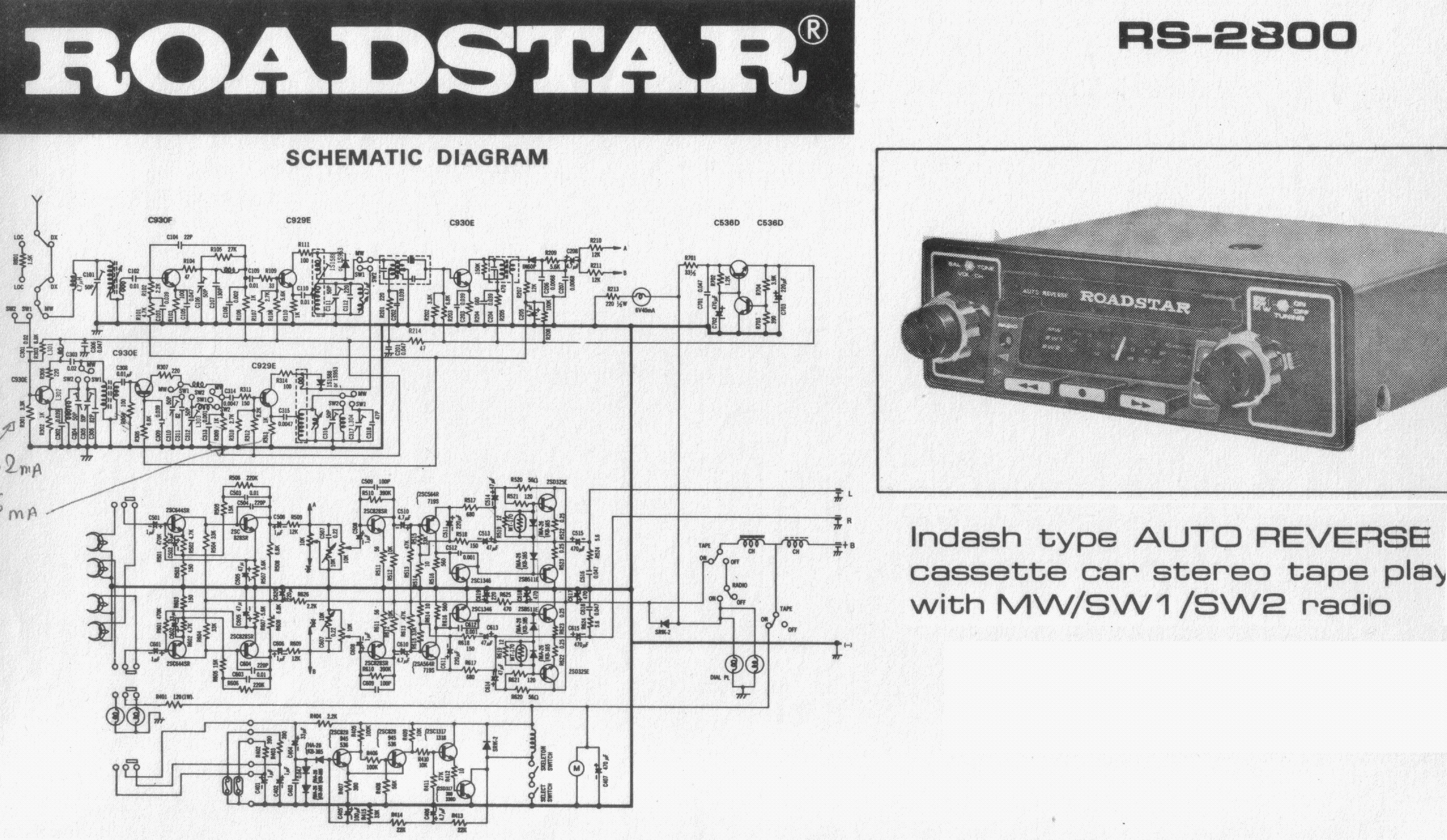 roadstar rs 2800 sch service manual download schematics eeprom rh elektrotanya com