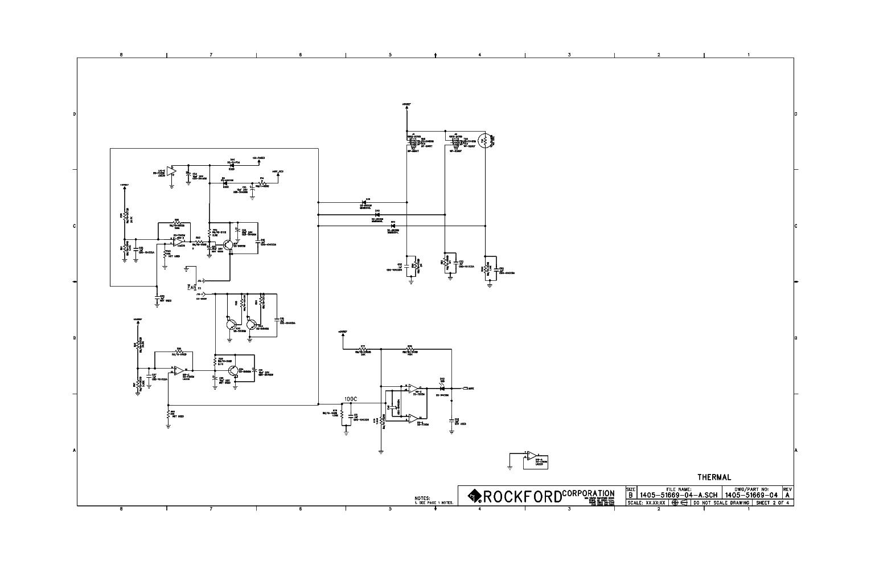 ROCKFORD-FOSGATE POWER-T10001BD REV A SCH Service Manual