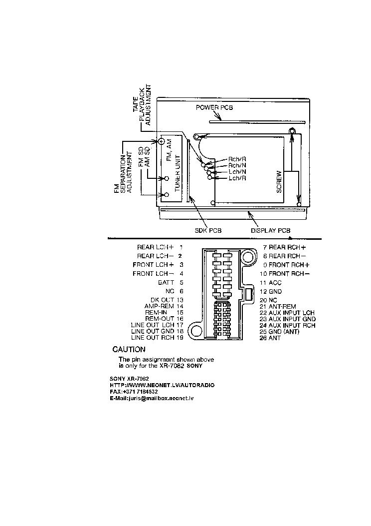 sony cdx m620 m670 service manual schematics sony 7082