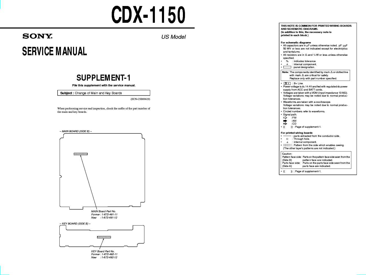 sony cdx 1150 us model sm service manual download schematics rh elektrotanya com