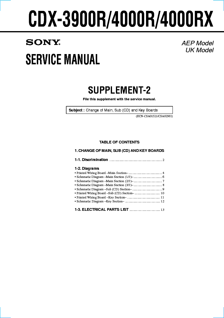 sony_cdx 3900r_4000r_4000rx_supp 2_sm.pdf_1 sony cdx gt650ui gt700ui gt707ui service manual download sony cdx gt640ui wiring diagram at gsmportal.co