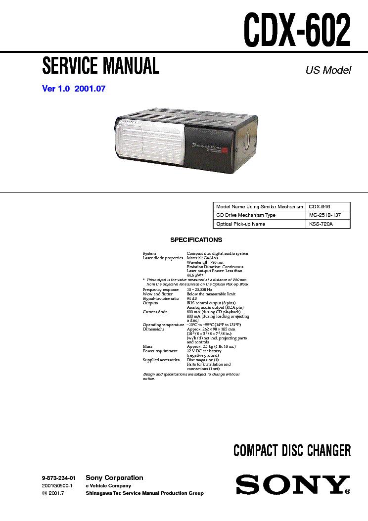 SONY CDX-602 SM